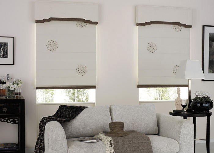 funky roman blinds