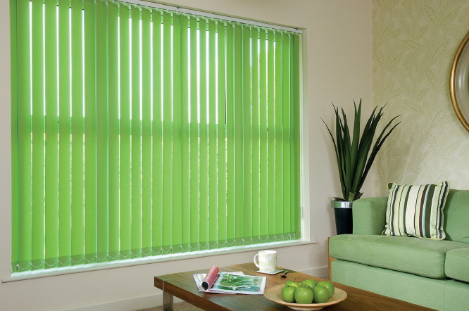 vertical blinds green